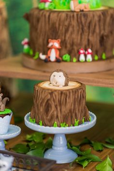 Hedgehog cake from an Enchanted Forest Birthday Party on Kara's Party Ideas | KarasPartyIdeas.com (55)
