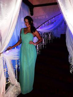 Teal Bridesmaid Dress.