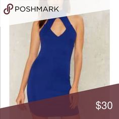 Choker Bodycon Dress Choker Bodycon Dress royal Blue Nasty Gal Dresses Mini