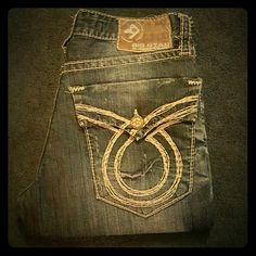 Men's big star jeans Good condition wear on bottom of legs and one back button missing Big Star Jeans Boot Cut