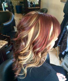 Pinwheel red, blonde& brown by candy