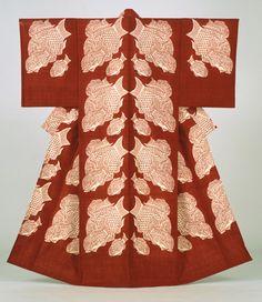 "Serizawa Keisuke, ""Seabream,"" kimono, stencil-dyed tsumugi-weave silk, 1964 (Courtesy Tōhoku Fukushi University Serizawa Keisuke Art and Craft Museum) :: The Japan Society has teamed up with the Tōhoku Fukushi University Serizawa Keisuke Art and Craft Museum to present the dazzling exhibit ""Serizawa: Master of Japanese Textile Design."""