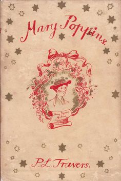 Mary Poppins / Original first edition dust cover - illustration by Mary Shepard, 1934