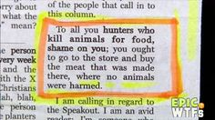 ARE YOU SERIOUS? the human race has fallen. How does this person think that the meat is made, and doesn't come from an animal? Cant Fix Stupid, Stupid People, Smart People, Ignorant People, Funny People, Thats The Way, That Way, Murder, Are You Serious
