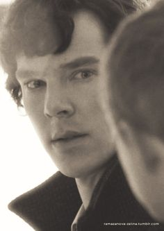 is this just a pic of sherlock looking at whatson or is it a pic of ben looking at his friend ? normaly ben disaperes in his roles, but this time i´m not sure