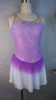 purple figure skating dress for women figure skating competition dresses custom #yike