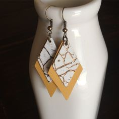 Leather Earrings. $12. Light as a feather!