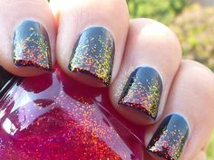 Pictures of Glitter Nails | Mattened Glitter Nails