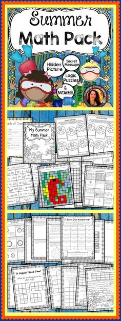 This SUMMER MATH PACK is perfect for year-round schools or keeping skills sharp over the summer! This pack includes 30+ pages of standards matching math designed to keep students engaged!