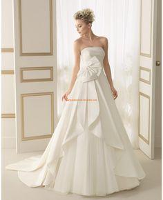 Robe de marie simple 2014 satin noeud avec bustier