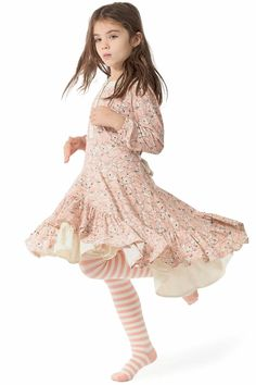 Paper Wings Peach Fawns Frilled Dress Size 4 - 12-Paper Wings Peach Fawns Frilled Dress Size 4 - 12 , free shipping. Paper Wings girls fall winter 2017 new arrivals, girls dresses, tops, skirts, free shipping.