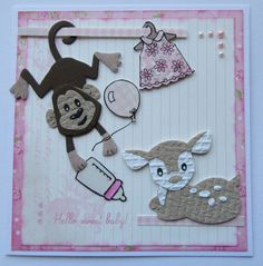 Marianne Design, Die Cutting, Albums, Monkey, Projects To Try, Card Making, Scrap, Baby Shower, Places