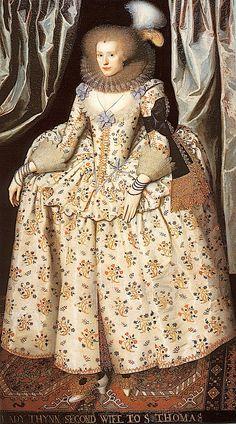 ca. 1613 Catherine Lyte Howard by William Larkin