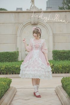 Queenie Lolita Lady Lillian series preorder - jumperskirt, headbow and blouse
