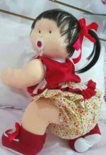 Muñeca de tela gateadora 2