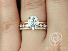 Moissanite engagement ring vintage rose gold engagement ring halo diamond Simple Flower Bridal set Jewelry Floral Christmas Anniversary gift All our diamonds are natural and not clarity enhanced or treated in anyway. We only use conflict-free diam Morganite Engagement, Rose Gold Engagement Ring, Engagement Ring Settings, Vintage Engagement Rings, Solitaire Engagement, Bridal Jewelry Sets, Bridal Rings, Bridal Jewellery, Trio Wedding Sets