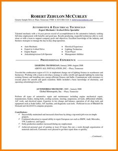 Sample Automotive Technician Resume Unforgettable Examples To Stand Out Auto Mechanic Templates