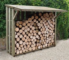 Flip Top Log Store from Forest Garden Products