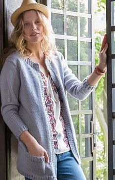 Stay comfy in this oversized cardigan. The yarn comes in very large balls, so you have fewer ends to weave in.