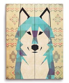 Look at this Geometric Wolf Wall Art on #zulily today!