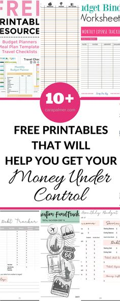 Free Printables That Will Help Get Your Money Under Control