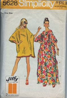 Vintage caftan pattern from Simplicity (#5628). Generally available on eBay if you do a search!