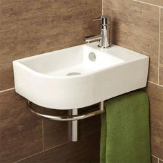 Buy this stylish HIB Malo Temoli Cloakroom Basin With Towel Rail at discounted rate. Manufacturing Code of this Cloakroom Basin is Cloakroom Basin, Downstairs Cloakroom, Downstairs Toilet, Cloakroom Ideas, Bathroom Sink Drain, Bathroom Sink Vanity, Washroom, Bathroom Store, Toilet Vanity