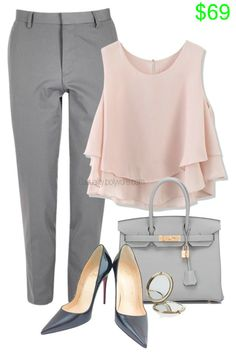 Feminine Business by casuality on Polyvore featuring Chicwish, Christian Louboutin, Hermès, River Island and Henri Bendel