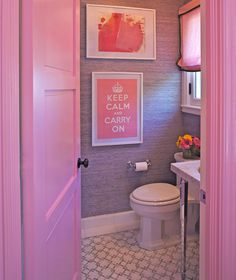 Pink Bathroom Designed by Grant K. Gibson at grantkgibson.com