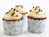 cupcakes me krema lemoni Lemon Buttercream, Buttercream Cupcakes, Cupcake Cookies, Cupcake Recipes, Macarons, Cheesecake, Deserts, Pudding, Sweets