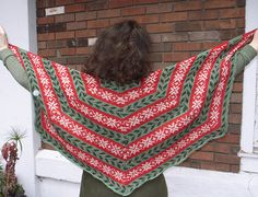 Ravelry: Deck the Halls Stranded Shawl pattern by Deborah Tomasello