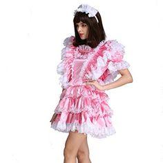 Gocebaby-Sissy-Girl-Maid-Satin-Pink-Lockable-Dress-Costume-Uniform-Crossdressing-0-3