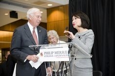 Alumnus Connie Chung went on to receive a degree in journalism at the University of Maryland, College Park in 1969. Knight Hall Dedication - Dr. Mote and Connie Chung by merrill.college_umd, via Flickr
