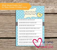 What Would Daddy Say Baby Shower Game #babyshowerideas