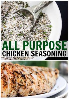 All-Purpose Chicken Seasoning - A Dash of Sanity - Whether you're grilling, baking, frying this All Purpose Chicken Seasoning made with a variety of spices adds the perfect amount of flavor. Grilled Chicken Seasoning, Chicken Spices, Best Seasoning For Chicken, Chicken Dips, Homemade Spices, Homemade Seasonings, Kitchen Recipes, Cooking Recipes, Healthy Recipes