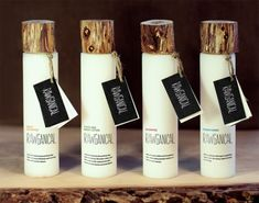 Four organic products for a luxurious Scandinavian Hotel, designed by 3 young danish design students. The name of the products is Rawganic. Great job!
