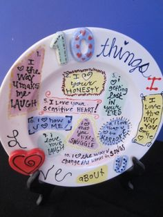 Treat Your Sweet Heart With A Personalized Plate Showing All The Reasons  You Love Them!
