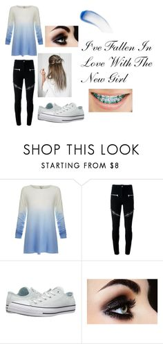 """""""I've Fallen In Love With The New Girl"""" by sharellstyles ❤ liked on Polyvore featuring Joie, Givenchy, Converse and Lipstick Queen"""