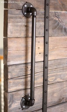 DIY barn door can be your best option when considering cheap materials for setting up a sliding barn door. DIY barn door requires a DIY barn door hardware and a Barn Door Handles, Sliding Barn Door Hardware, Sliding Doors, Door Knobs, Door Latch, Door Hinges, Porte Diy, Deco Originale, The Doors