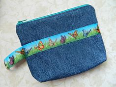 Cosmetic Case Bag Purse Pouch Tote  READY TO SHIP by CyndeesGarden, $11.00