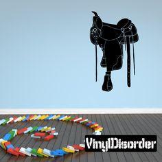 Saddle Wall Decal - Vinyl Decal - Car Decal - 082
