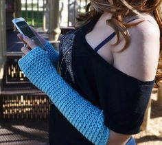 Fingerless gloves long arm warmers texting gloves by ValkinThreads #apparel #accessories #fashion #motox