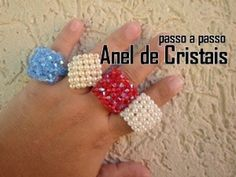 NM Bijoux - Anel de Cristais - passo a passo - YouTube