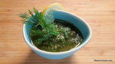 Marinada aromata cu usturoi si lamaie pentru peste Seaweed Salad, Chili, Food And Drink, Dressing, Ethnic Recipes, Green, Chile, Chilis