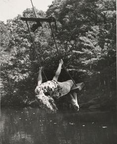 Andre Kertesz: Woman on Swing 1947