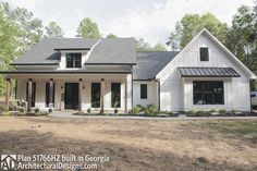 Modern Farmhouse Plan comes to life in Georgia - photo 002