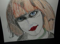 Drawing: Pris by Rodster, Pencil, ink, & crayon  on card stock - ebay
