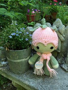 Ravelry: sandyeggers02's Flower Child Big Head Baby Doll