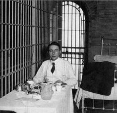 Harry Kendall Thaw in jail after the murder of Stanford White, 1906.