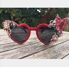 #sunglasses #festivalfashion #festivalsunglasses #retro #accessories #red #redsunglasses #vintage #butterfly #sunnies #shades #retrostyle #funky #handmade